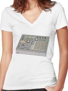 magic mixer Women's Fitted V-Neck T-Shirt