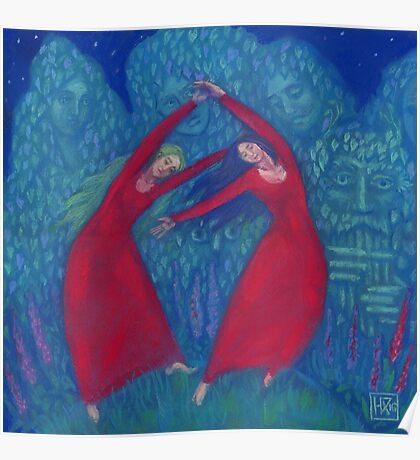 """""""Hexentanz"""" (""""Dance of the witches""""), fantasy art, forest fairytale Poster"""