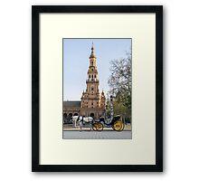 Seville - A view of Plaza de Espana  Framed Print