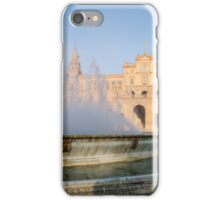 Plaza de Espana and its fountain - Seville iPhone Case/Skin