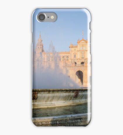 Plaza de Espana and its fountain - Seville iPhone Case/Skin