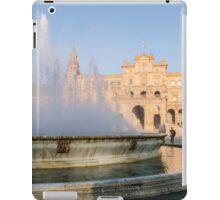 Plaza de Espana and its fountain - Seville iPad Case/Skin