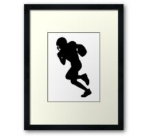 Football sports player  Framed Print