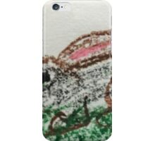 Little Bunny in Oil Pastels iPhone Case/Skin