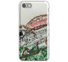 Little Bunny in Oil Pastels iPhone Case/Skin