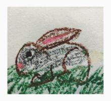 Little Bunny in Oil Pastels One Piece - Short Sleeve