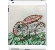 Little Bunny in Oil Pastels iPad Case/Skin
