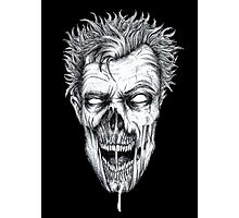 Zombie Head Photographic Print