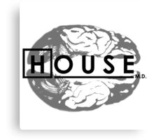 House M.D. Brain Anatomy Canvas Print