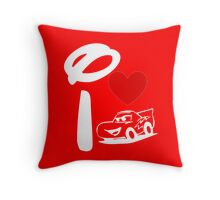 I Heart Cars Land (Inverted) Throw Pillow