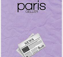 Gilmore Girls minimalist poster, Paris Geller by hannahnicole420