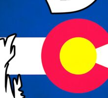 Colorado flag chicken Sticker