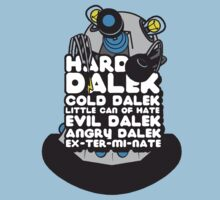 Hard Dalek Cold Dalek New Design (Grey/Blue) Kids Clothes