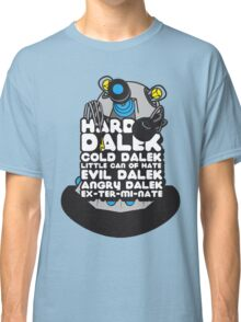 Hard Dalek Cold Dalek New Design (Grey/Blue) Classic T-Shirt