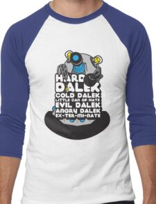 Hard Dalek Cold Dalek New Design (Grey/Blue) Men's Baseball ¾ T-Shirt