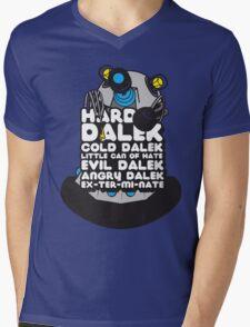 Hard Dalek Cold Dalek New Design (Grey/Blue) Mens V-Neck T-Shirt
