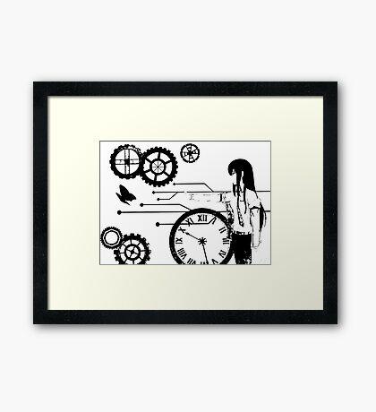 Steins;Gate - Kurisu Makise Trapped in Time Framed Print