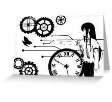 Steins;Gate - Kurisu Makise Trapped in Time Greeting Card