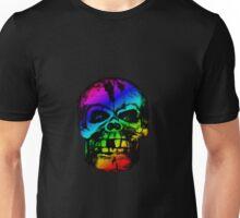 Rainbow Gradient Skull Unisex T-Shirt