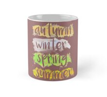 Season Autumn, Winter, Spring, Summer in Watercolor Mug