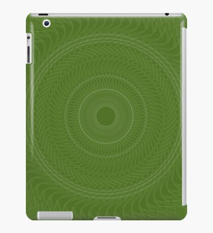 Green Mandala like a Turbine  iPad Case/Skin