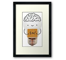 Cute light bulb Framed Print
