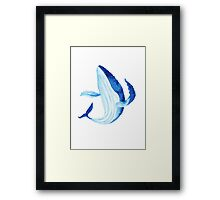 Whale. Watercolor illustration. Framed Print