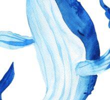 Whale. Watercolor illustration. Sticker
