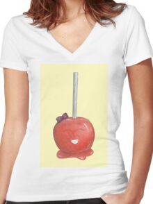 Candy Land Project - #2 Toffee Apple Women's Fitted V-Neck T-Shirt
