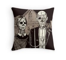American Gothic Zombie Throw Pillow