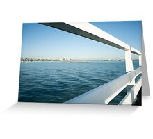 Orakei Bay pier, Auckland NZ Greeting Card