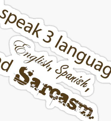 Languages Sarcasm Sticker