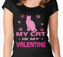 My Cat is My Valentine Women's Fitted Scoop T-Shirt