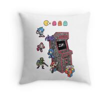Arcade Game Booth /without background Throw Pillow
