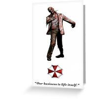 Resident Evil zombie Greeting Card