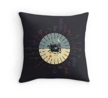 World Clock Throw Pillow