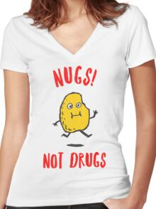 Nugs Not Drugs T-Shirt Women's Fitted V-Neck T-Shirt