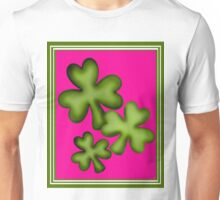 Pink and Green Clovers Unisex T-Shirt