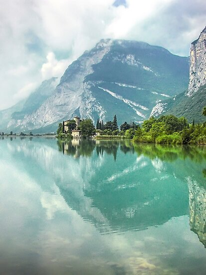 Castle and Lake of Toblino by paolo1955