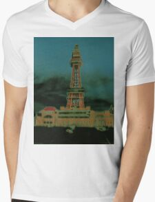 Tower. Mens V-Neck T-Shirt