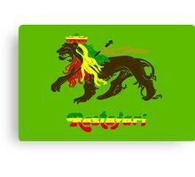 Reggae Rasta, Rastafari Lion Canvas Print