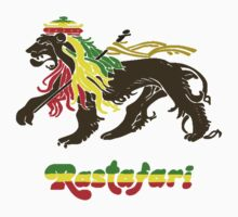 Reggae Rasta, Rastafari Lion One Piece - Short Sleeve