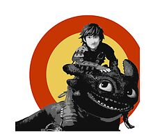 Hiccup and Toothless Pillow by thisisbrooke