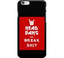 Head Bang (Metal Fonts) iPhone Case/Skin