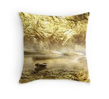 Boat on the beach Throw Pillow