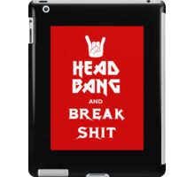 Head Bang (Metal Fonts) iPad Case/Skin