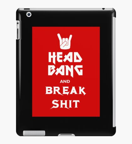 Head Bang (Metal Fonts) iPad Case/Skin