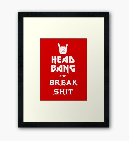 Head Bang (Metal Fonts) Framed Print