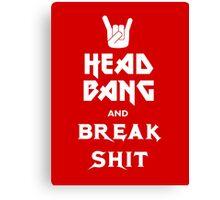 Head Bang (Metal Fonts) Canvas Print