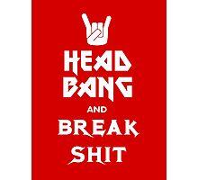 Head Bang (Metal Fonts) Photographic Print